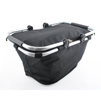 732ede84052 Musta värvi kokkupandav toiduainete termo-piknikukorv võimaldab teil kerge  vaevaga toitu transportida ning teele või piknikule kaasa võtta, säilitades  toidu ...