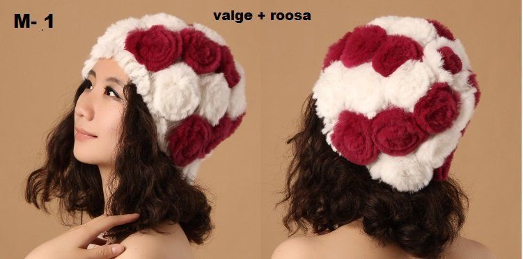 6affdd8ded6 Küüliku karvaga valmistatud naiste mütsid on imeilusa välimusega, pehmed ja  kerged. Trendikad ja stiilsed mütsid päästavad ka kõige külmemal ajal!